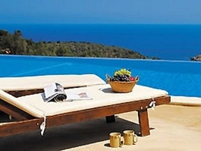 Photo for Villa with Private Pool and Aegean Sea Views