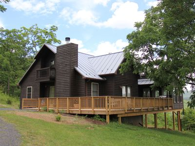 Photo for Top-of-Mountain Cabin with Views and Outdoor Activities or Relaxation