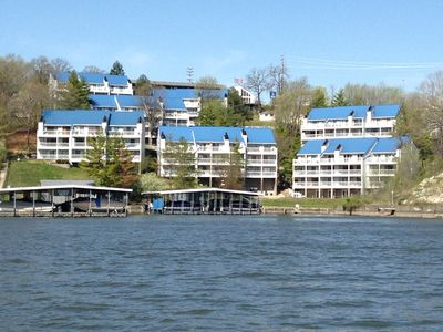 Welcome to hawks nest! Our condo is directly on the water, building on the right