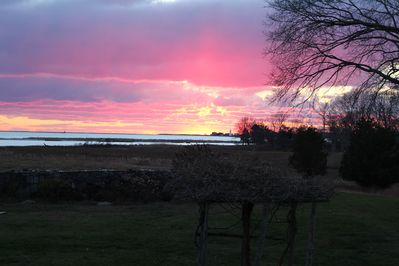 Typical sunset over looking the L. I. Sound and Connecticut River.