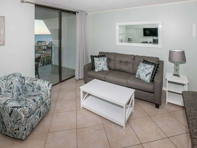 Photo for REMODELED   Gulf views 7th floor   Outdoor/Kiddie pools, Hot tub, Tennis, BBQ, Pier, Beach Access