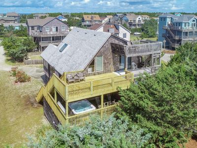 Photo for Idle Minds - Peaceful 3 Bedroom Oceanfront Home in Salvo