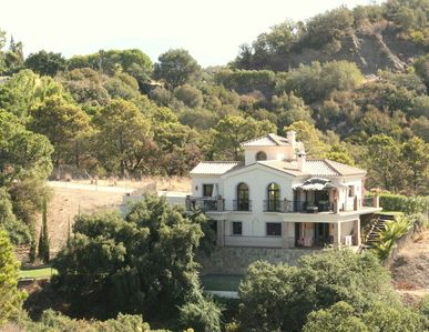 Villa from across the valley