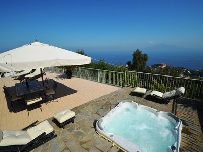 Photo for Villa Augusta A with External Tub, Sea View, Parking and Private Terraces