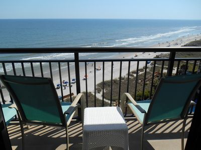 Photo for Great Ocean Views from this Ocean Front Condo - Beach Cove Resort