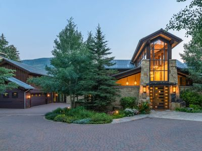 Photo for NEW! Ski-in, Ski-out Luxury Mountain Estate, Private Pool, Home Theater: Vail Valhalla