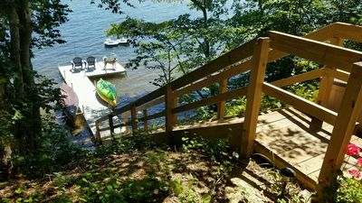Photo for Beautiful Lakefront Getaway on Mashpee Pond with Private Dock