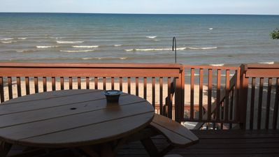 Photo for Updated Cottage on the Beach. Over 100 feet of Private Beach. Great View
