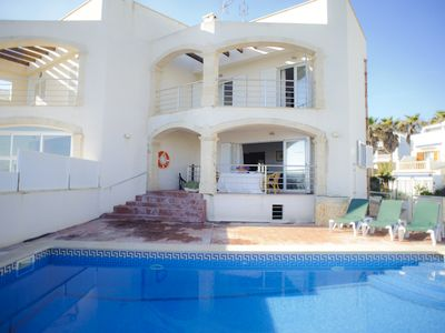 Photo for new villa with pool, directly at the sea, breathtaking views