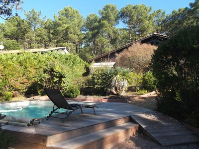 Photo for Nice chalet style detached house with swimming pool 2.5 km from the center