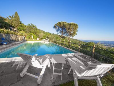 Photo for Modern 2br Apartment √ Wifi,  A/C, with panoramic Pool, in Florence Countryside