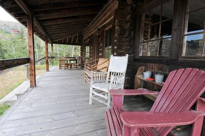 Plenty of room to relax on the porch.