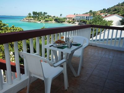 Breakfast on Balcony of Beach & Ocean Front Villa  #7