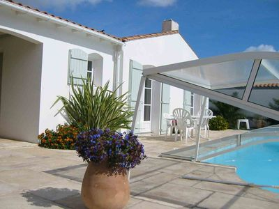 Photo for 8 persons Villa with pool located in a dead 5 minutes from the beach.