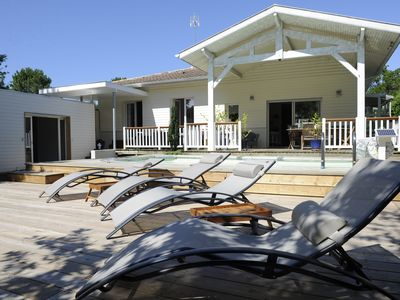 Photo for Seignosse GOLF - villa with heated pool 5 minutes from the ocean