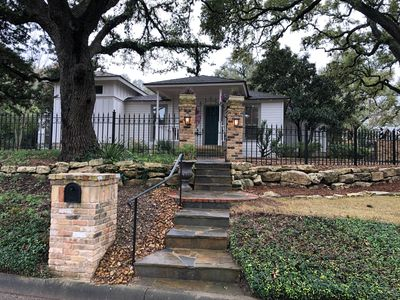 Photo for Sleeps 10, walk everywhere, steps  from historic downtown Boerne, gated home!