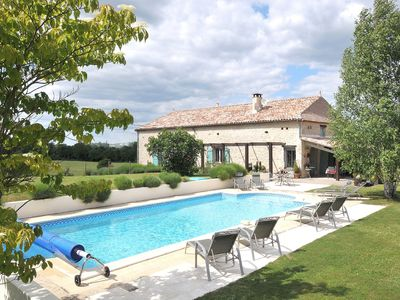 Photo for Farmhouse Gite with  5 En-Suite Bedrooms and Private Heated Pool