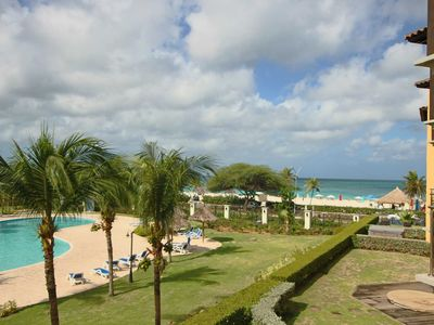 Photo for BEACHFRONT - EAGLE BEACH - OCEANIA RESORT - Amazing Pearl 2BR condo - BC253