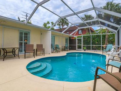 Photo for Dally-  Pool home 1/2 block from the Gulf (pet friendly) Rent 2 or 4 bedrooms  Book via VRBO from Sept 2-Oct 12 and get a 1/2 priced golf cart rental from Beach Bums with the rental of two or more bikes. Inquire for full details.