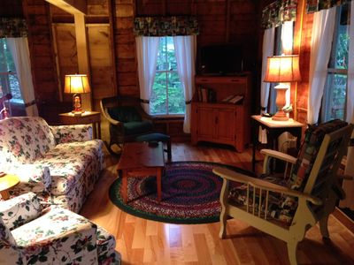 partial view of living room, room faces Lake