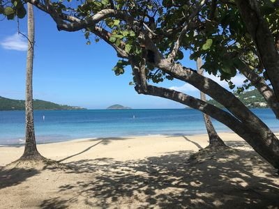 Photo for RIGHT ON THE BEACH! Cowpet Bay Beach EAST END, the Best End of St Thomas