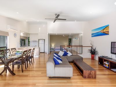 Photo for Unit 1 Rainbow Surf - Modern, two storey townhouse with large shared pool, close to beach and shop