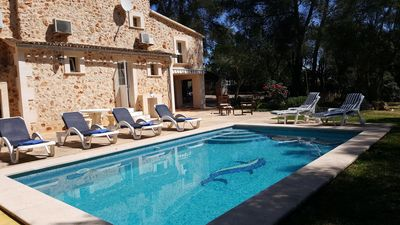 Photo for Romantic holiday house with private pool and Mediterranean garden