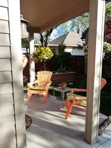 Porch seating area