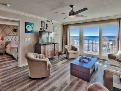 Photo for Clean Gulf Front Condo,  Not Side View! Rocker Recliner and Beach Service!