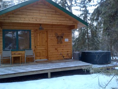 Photo for Beautiful Cabin with private hot tub in quiet setting