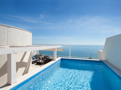 Photo for Luxury Front Line Penthouse Private Pool & Terrace WIFI On The Costa Del Sol