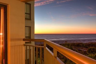 View of the Beach and Gulf of Mexico from your balcony.  Cabanas to rent on the beach.