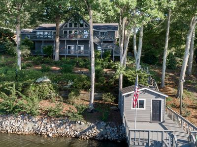 Photo for Beautiful Lakefront home - big, big water view! Luxury and room to spread out!