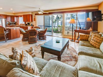 Photo for Oceanfront, pool, and near to sandy beach! Poipu Palms #102