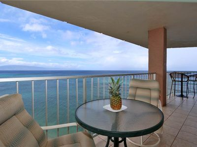 WOW PENTHOUSE! 12th fl Direct Ocean Front 2 bedroom Condo in Kahana w/Central AC