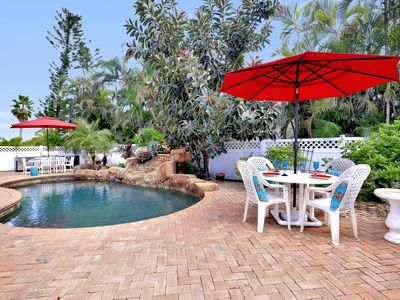 Photo for Incredible Private Outdoor Area, Close to the Beach & Shopping!