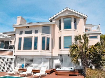Photo for 21 Heron - Oceanfront Home, Private Boardwalk, Free Pool Heat Til May