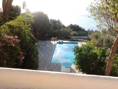 Photo for Dramatic location, Serene Sea Side Villa With Pool Near Temple of Sounion