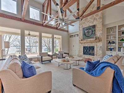 Photo for NEW! Luxe Cedar Creek Lakefront Home w/Dock & View