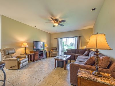 Photo for Golf course retreat, with shared pool, pool spa, and easy attraction access