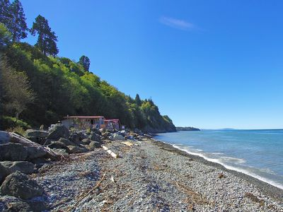 Photo for Codfish Cottage - Beach Front Cabin on the Strait of Juan De Fuca