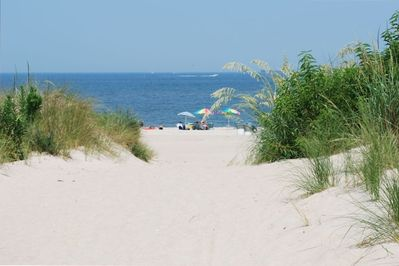 Welcome to Chesapeake Bay!  This sandy path is just steps from your Condo!