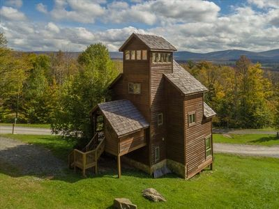Photo for Enjoy Panoramic Views from this adorable Treehouse! Hot Tub w/ a view! Sleeps 7.
