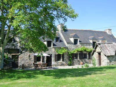 Photo for Very Nice Longere Bretonne with heated pool