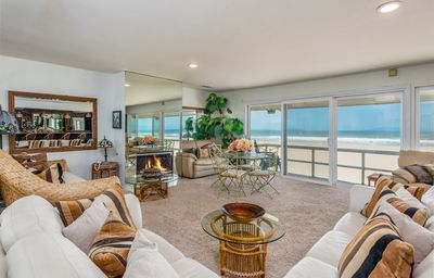 Photo for Large Beachfront 6BR w/ 2 Living Rooms, Fireplace & Deck w/ Epic Island Views