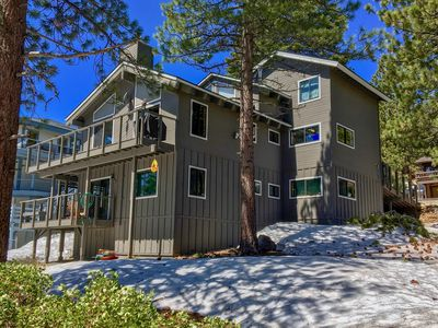 Photo for Lake Tahoe Views | 3 Level Home w/ Private Hot Tub, Beach Access, Pool Table!