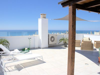 Photo for Beautiful Penthouse apartment centrally located with stunning sea views