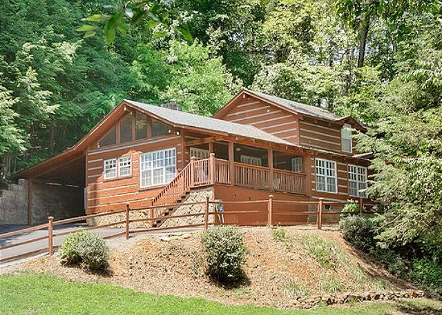 Listen to the river while staying within th vrbo for Luxury pet friendly cabins in gatlinburg tn