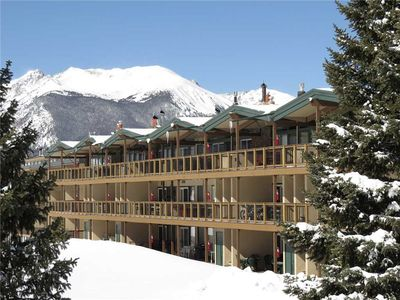 Photo for Mountain Views, Elevator, Gas Fireplace. Complex Hot Tub, Easy Drive to Resorts, Dining, Shops