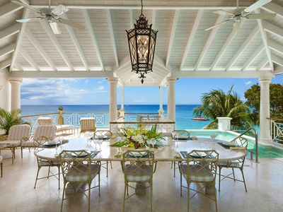 Photo for LA MIRAGE AT OLD TREES -  Luxury 4 bedroom fully staffed beach front villa